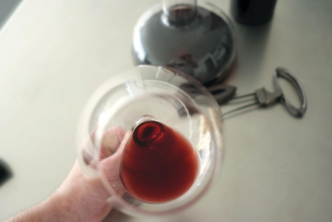 Foto copa de vino superior